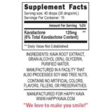 Happy Kava Tincture Supplement Facts