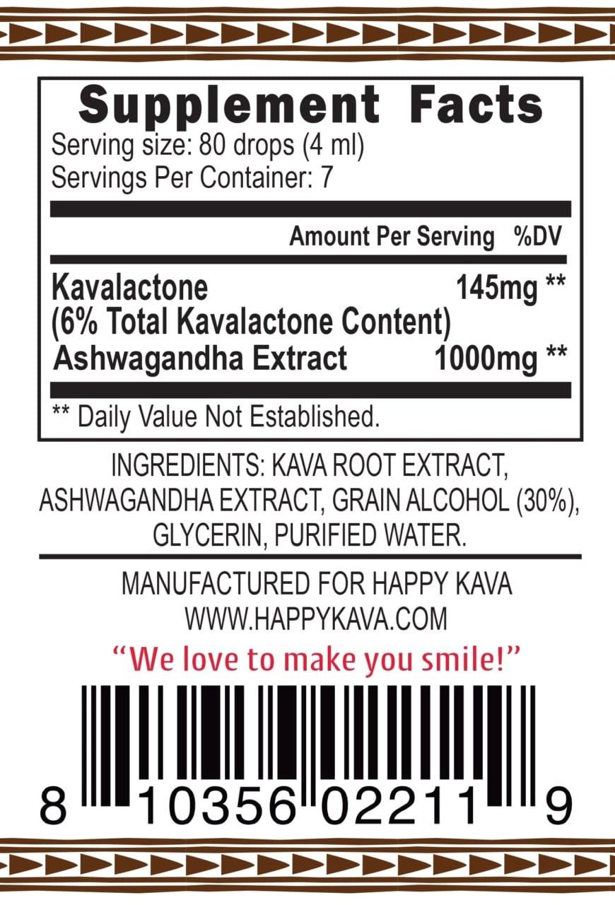 Kava Ashwagandha Tincture Blend
