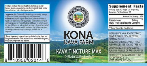 Kona Kava Farm Tincture Max 12%