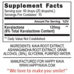 Ashwagandha Kava Blend Supplement Facts